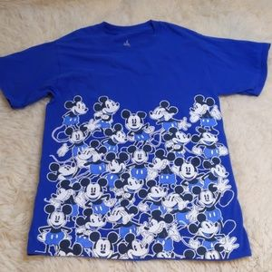 Disney Parks Blue White Mickey Mouse Shirt Small
